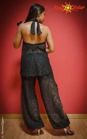 TangoSolar completo nero pizzo pantalone top da tango da sera abbigliamento da cerimonia occasioni speciali Torino negozio abbigliamento