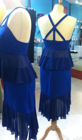 Ineditotango completo tangosolar abbigliamento esclusiva tango da sera occasioni speciali bluette gonna top
