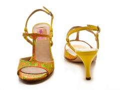 Regina Tango Shoes Amy fantasia giallo tangosolar negozio esclusiva torino scarpe zapatos tango colorate tacco 7cm