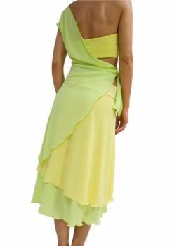 Tangosolar abiti sartoriali torino tango ballare milonga abito giallo