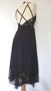 tangosolar abito unico nero con pizzo torino negozio abbigliamento elegante tango