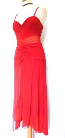 tangosolar abito unico rosso con tulle negozio abbigliamento torino esclusiva aldobaraldo tango