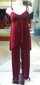 tangosolar completo top pantalone rubino negozio abbigliamento torino tango tempo libero cerimonia eventi