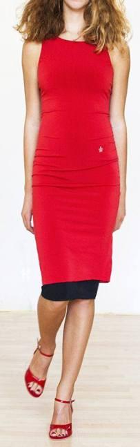 Regina Tango Wear abito nero e rosso tangosolar torino esclusiva negozio abbigliamento tango
