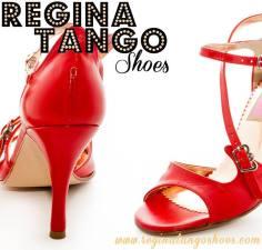 Regina Tango Shoes rossa pelle tangosolar torino negozio abbigliamento calzature tango esclusiva
