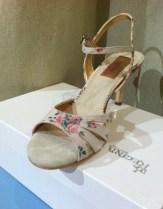 Regina Tango Shoes stoffa fiori scarpe tacco tango tangosolar ballare aldobaraldo