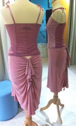 ineditotango completo rosa gonna top tangosolar esclusiva torino negozio abbigliamento
