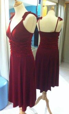 ineditotango abito rosso rubino tangosolar esclusiva abbigliamento tango torino