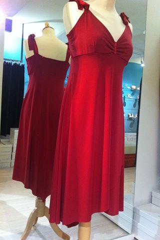 Ineditotango abito rosso Tangosolar esclusiva negozio torino ballare tango milonga aldobaraldo