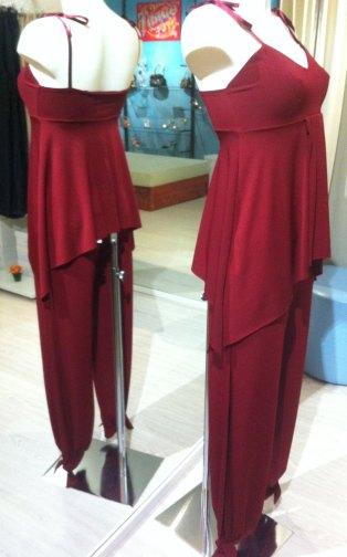 Ineditotango completo rubino top pantalone ballare tango torino tangosolar negozio esclusiva aldobaraldo ferny