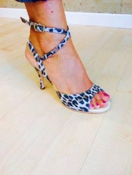 Regina Tango Shoes leopardato scarpe tango ballare tangosolar aldobaraldo tacco fantasia milonga tango