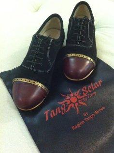 Regina Tango Shoes uomo nero bordeaux bicolore negozio esclusiva torino tangosolar zapatos tango milonga aldobaraldo