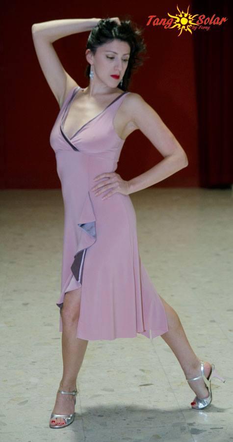 abito rosa ineditotango esclusiva torino tangosolar selva mastroti ballare milonga aldobaraldo