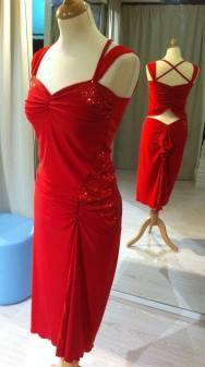 ineditotango abito rosso davanti dietro tangosolar torino completo tango ballare milonga