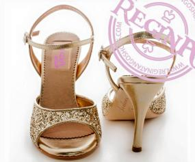 Regina tango shoes donna lustrini oro tangosolar esclusiva torino