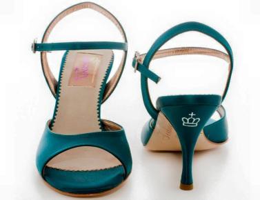Regina tango shoes donna tessuto verde tangosolar scarpe tango torino