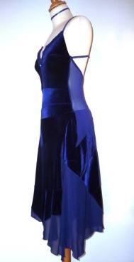 tangosolar abito blu elettrico torino abbigliamento tango da sera eventi ballare