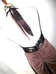 tangosolar abito cipria e pizzo nero schiena torino tango aldobaraldo negozio eleganza