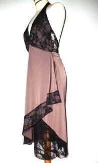 tangosolar abito cipria e pizzo nero negozio abbigliamento eleganza torino aldobaraldo milonga
