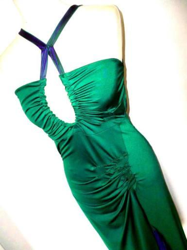 tangosolar abito verde smeraldo torino negozio esclusiva capi unici da sera da tango da cerimonia