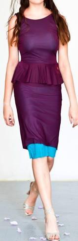 abito regina tango shoes wear azzurro prugna fronte