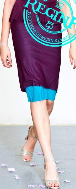 abito regina tango shoes wear azzurro prugna gonna
