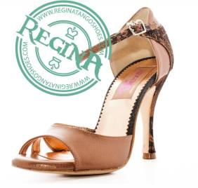 regina tango shoes donna naturale e pitonato
