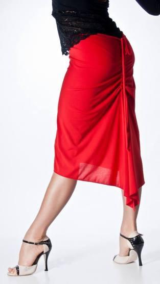 regina tango wear gonna rossa lato
