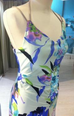 abbigliamento torino esclusiva tangosolar abito floreale dettaglio