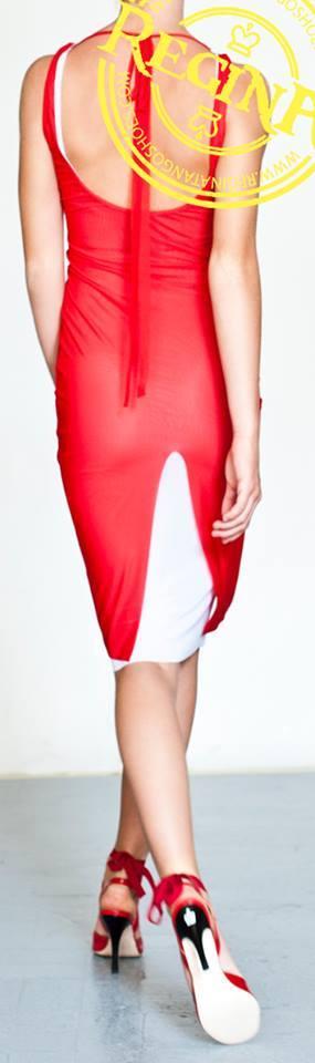 tangosolar regina tango shoes wear abito rosso e bianco scarpe rosse torino negozio tango esclusiva uomo donna
