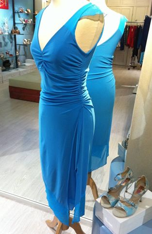 ineditotango azzurro laterale tangosolar negozio torino abbigliamento tango da sera eventi milonga aldobaraldo