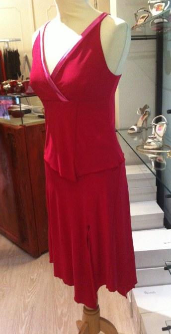 tangosolar ineditotango completo rosso esclusiva torino tango abbigliamento