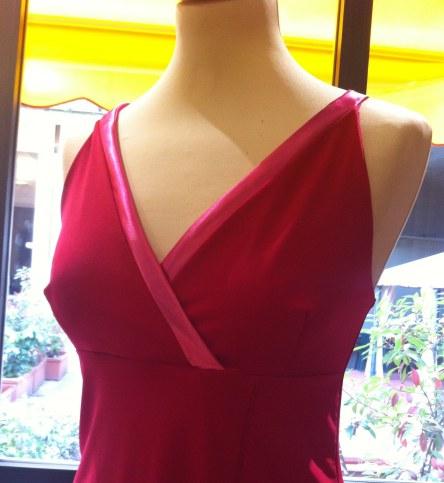 ineditotango top rosso esclusiva torino tangosolar abbigliamento qualità artigianale