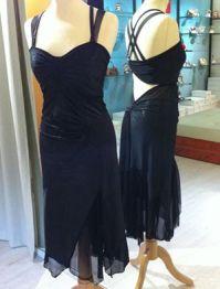 tangosolar ineditotango abito nero veli scollato schiena scoperta torino esclusiva ballare tango milonga abbigliamento da sera
