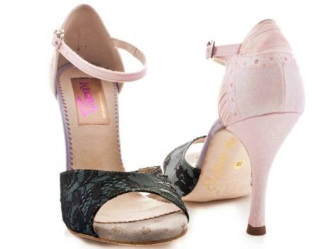 regina tango shoes donna rosa nero pizzo aldobraraldo tangosolar esclusiva made in italy