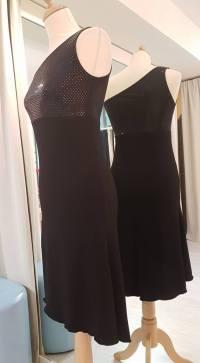 tangosolar abito nero monospalla torino esclusiva via parma tango da sera