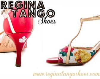 regina tango shoes rosso e floreale scarpe donna ballo milonga torino esclusiva corona pelle tessuto torino