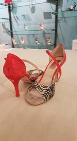 regina tango shoes rosso e zebrato donna calzature ballo tacchi aldobaraldo torino milonga negozio esclusiva