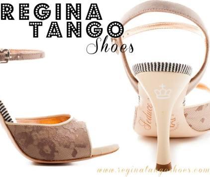regina tango shoes scarpa donna crema pizzo e cordura righe tangosolar torino esclusiva tacco alto
