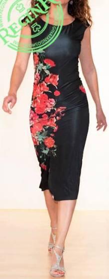 regina tango shoes wear abito nero fiori rossi davanti tangosolar via parma torino aldobaraldo esclusiva