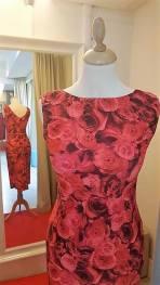 tangosolar abito beatrice corallo floreale