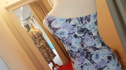 tangosolar abito biba azzurro monospalla