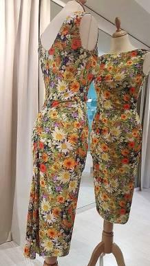 tangosolar abito floreale fantasia primavera aldobaraldo torino esclusiva ballare tango abbigliamento