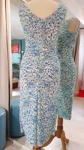 tangosolar abito floreale azzurro dietro