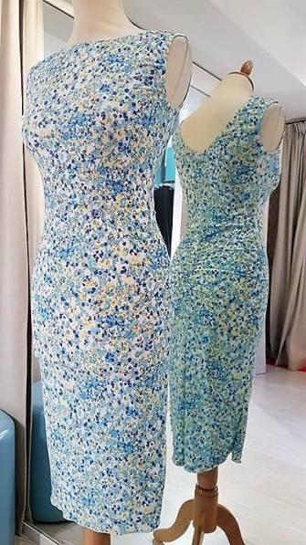 tangosolar abito floreale azzurro
