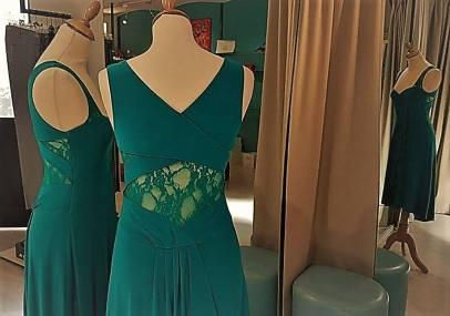 tangosolar abito ametista verde smeraldo pizzo tango