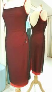 abito rosso doppio tangosolar torino