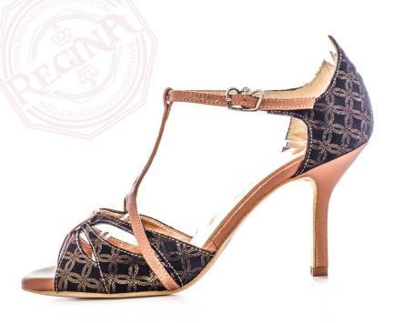 regina tango shoes scarpa nero oro