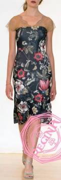 regina tango shoes vestito fantasia floreale spalle pizzo davanti