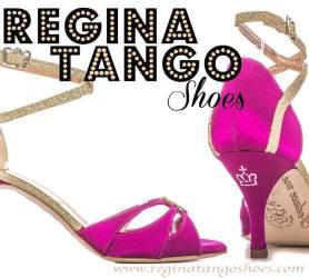 regina tango shoes fucsia raso e strass